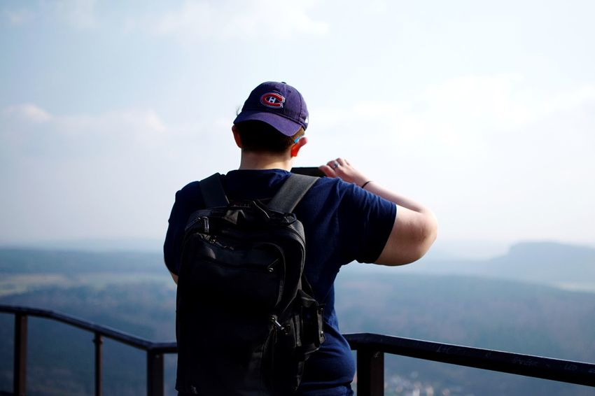 High above everything. In The Clouds High Above Sky One Person Railing Real People Water Nature Lifestyles Standing Cloud - Sky Mountain Outdoors Looking At View Go Higher #FREIHEITBERLIN The Great Outdoors - 2018 EyeEm Awards