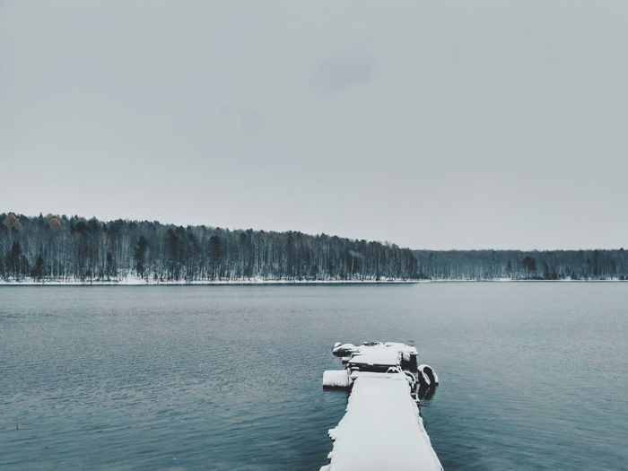 Winter is here ❄️ Lake Beauty In Nature Winter Snow Outdoors Nature Water Cold Temperature Landscape Ice