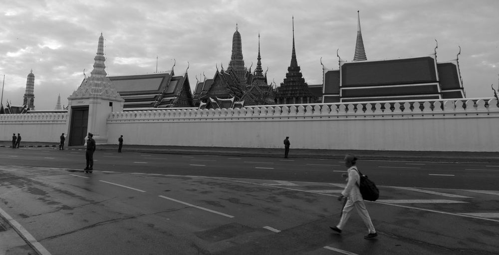 Architecture Building Exterior Built Structure City Cityscape Cultures Day Grand Palace Bangkok Thailand History Horizontal King Bhumipol Adulyadet Outdoors People Person Place Of Worship Real People Sky Spirituality Standing Tourism Travel Travel Destinations