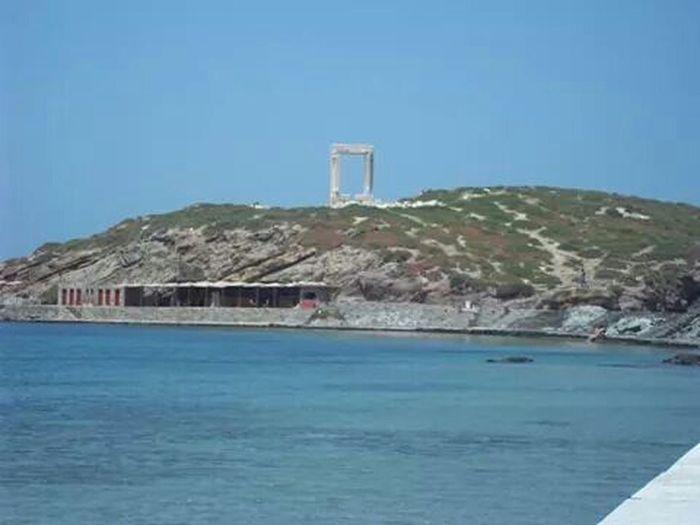 Naxos Greece island sea cyclades portara