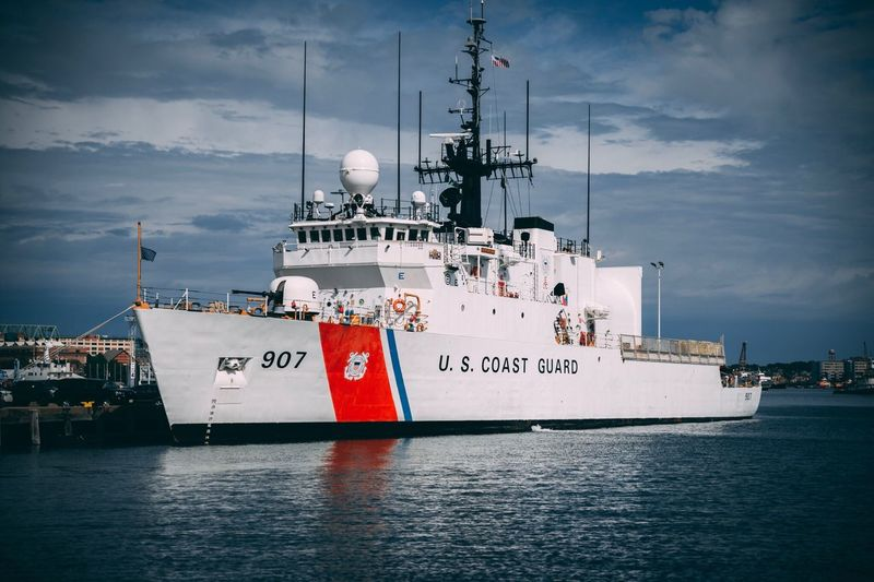 US Coast Guard Base in Boston. Sea Outdoors No People Costguard Boston Boston, Massachusetts Usa 🇺🇸 Ship