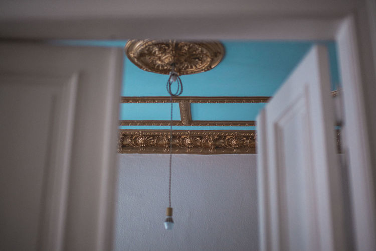 Architecture Barocco Barock Blue Ceiling Ceiling Close-up Decoration Design Door Electric Lamp Entrance Focus On Background Hanging Home Interior Indoors  Lighting Equipment Low Angle View Metal Mirror No People Reflection Selective Focus Vintage Vintage Home Window
