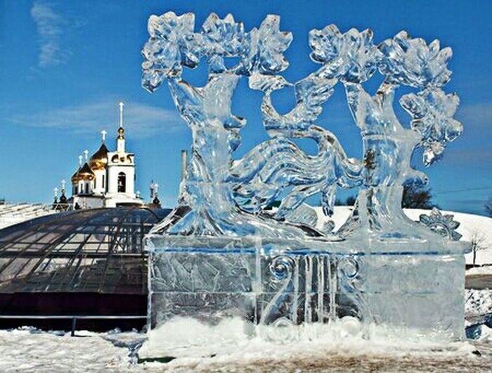 ледяные скульптуры Архив 2013_ Дмитров View Ice Sculpture EyeEm Best Shots EyeEm Gallery Eye4photography  прогулка жар-птица