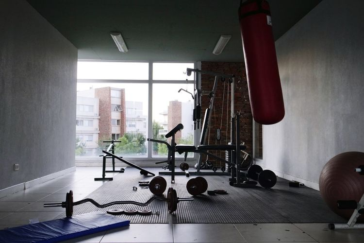Gym without people for physical training