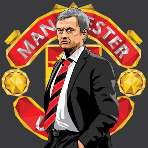 #Mourinho vector artwork just done. What you think? #MUFC Just changed tie and shirt colour as other one was Cfc lol