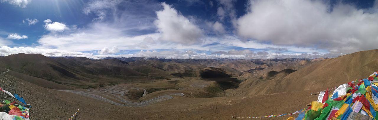 Mountain Desert Panoramic Multi Colored Sand Dune Arid Climate Sky Landscape Cloud - Sky