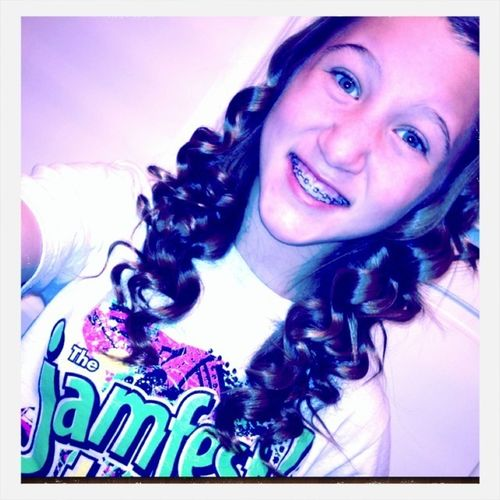 Bored So I Curled My Hair (: <3