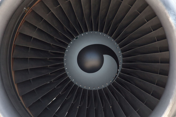 Close-Up Of Airplane Fan