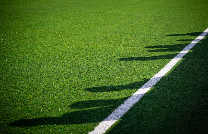 Soccer Shadow Football Competition Day Grass Green Color No People Outdoors Playing Field Sport Team Sport LINE Backgrounds Textured  Full Frame Single Line