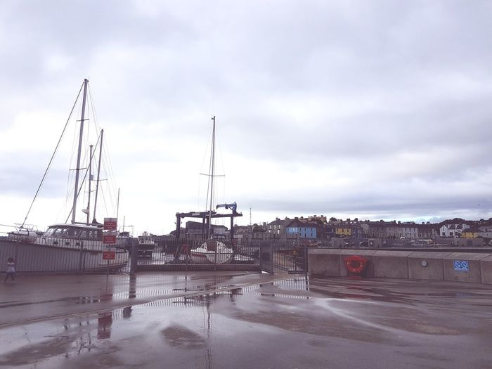 parked boats