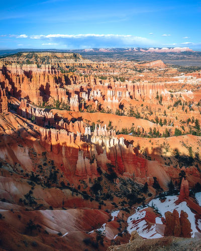 Bryce canyon national park, Utah, USA Rock Formation USA Utah Beauty In Nature Bryce Canyon National Park Environment Landscape Nature No People Rock Rock Formation Sky Snow Tranquil Scene Travel Travel Destinations