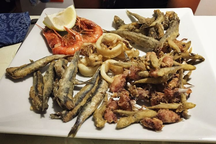 Eating In Sicily Fish Food Food And Drink Food And Drink Freshness Ready-to-eat Plate Serving Size Indoors  Seafood No People Meat SLICE Healthy Eating Close-up Day