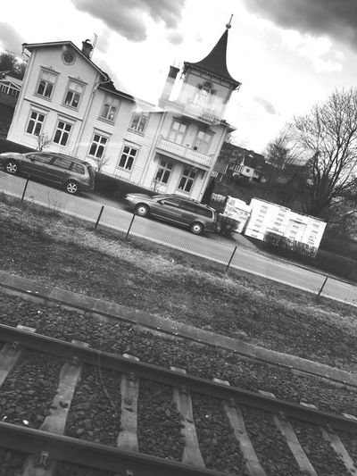 Black And White Friday Architecture No People Railroad Track Cold Temperature Light And Shadow