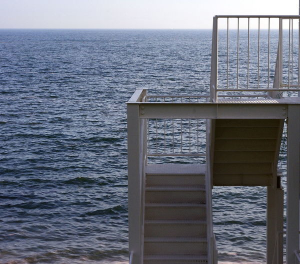 white stairs Lines And Shapes Seascape Seaside Stairs White