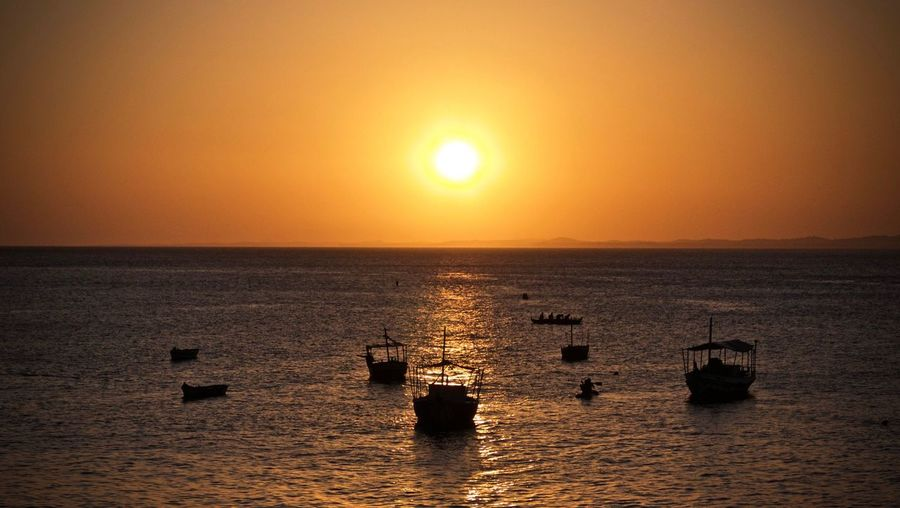 Travel Destinations Sunset Sea Beauty In Nature Scenics Tranquility Horizon Over Water Water Orange Color Nature Tranquil Scene Sun Nautical Vessel Sky Clear Sky Outdoors No People Shiny Day Long Goodbye