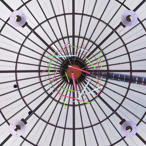 TakeoverContrast Takeover Contrast Looking Up Low Angle View Ceiling Design Ceiling Lights Ceiling Ceiling Art Multi Colored Glass Ceiling High Contrast