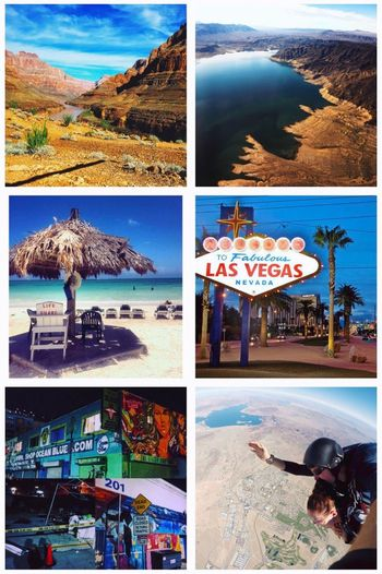 Collage Vacations Nature Grand Canyon Bahamas Las Vegas Skydiving Travel Destinations Travel United States