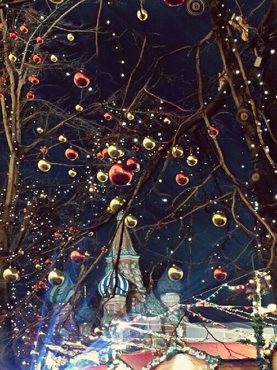 Christmas Decoration No People Night Red Square Magic First Eyeem Photo