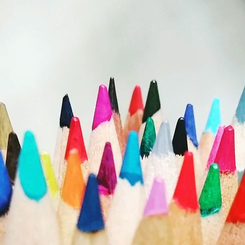 Multi Colored Large Group Of Objects Colors Pencilcolors Stationery Assemblage Colorful Rainbow Colors Sharp Written Pattern Group Whitebackground Pop Essentials Happiness Jolly Joy Positive