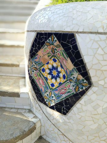 EyeEmNewHere Mosaic Art Park Gaudi Guell Park Guell Monumental Zone HuaweiP9 Barcelona Travel Destinations Building Exterior Built Structure City Sculpture Architecture Art Is Everywhere