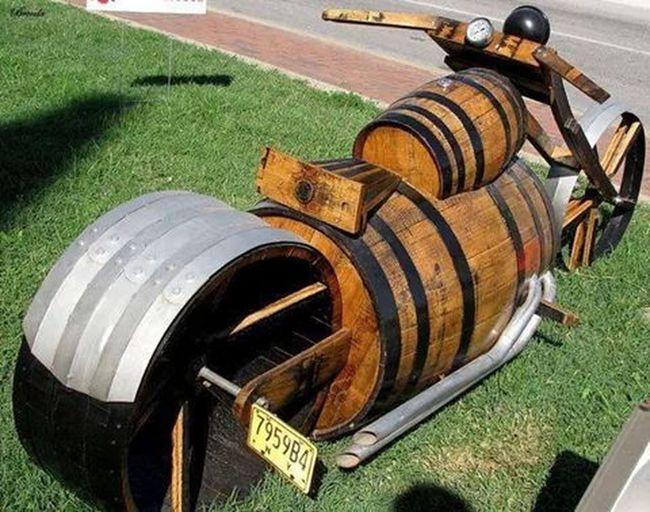 Wood bike.