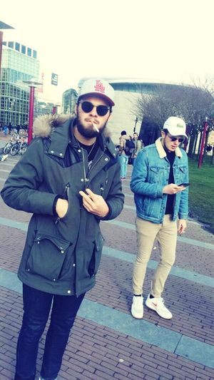 Chill @Amsterdam - Levis Jacket Lacoste Cap & Sweatshirt H&M Pant NikexClot AF1 First Eyeem Photo