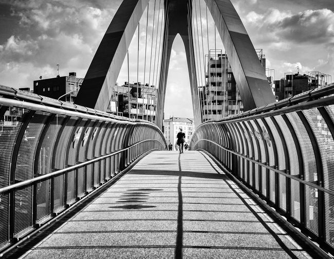 A Tale of Light and Shadows Bridge - Man Made Structure Architecture City Walking Built Structure Milano Milan Street Blackandwhite Black And White EyeEm Best Shots