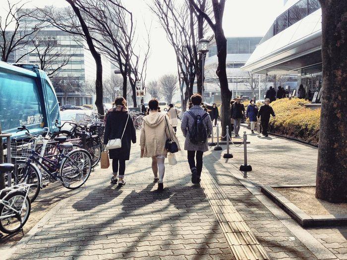 仲良し3人組 👩👧👧 Good-friends Group3 City Walking People Are People ヘアースタイルも一緒🍡The hair styles are same as,too なんちゃってfeel-good