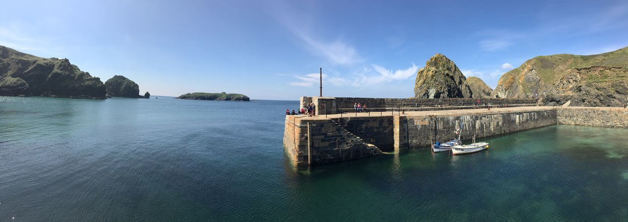 Sea Harbour Cornish tranquil Cornwall English beauty No People