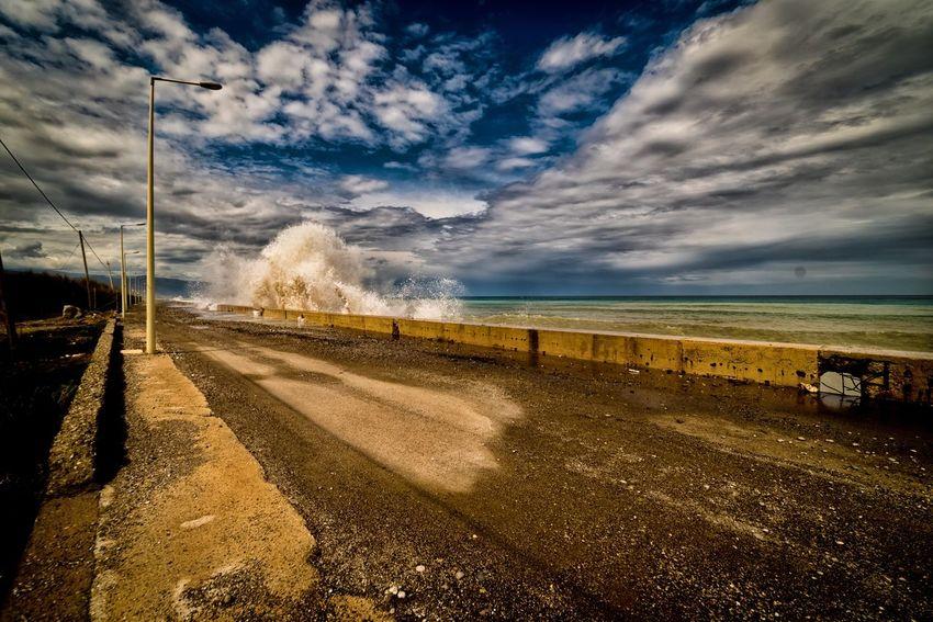 Nikon Samyang14mm Nikonphotography Sky Cloud - Sky Water Sea Land Beach Nature Horizon Over Water Day Outdoors