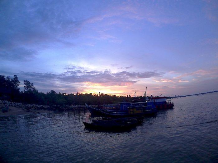 dorak harbour Meranti Water Nautical Vessel Sea Sunset Beach Reflection Beauty Sky Landscape Horizon Over Water