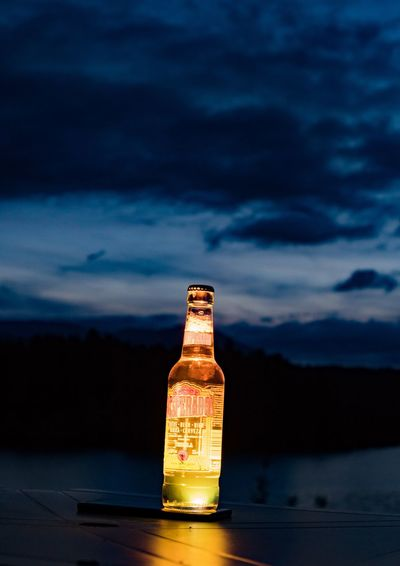 Desperados Desperados EyeEm Selects Cloud - Sky Sky Bottle No People Water Nature Close-up Beauty In Nature Sunset Sea Outdoors Day