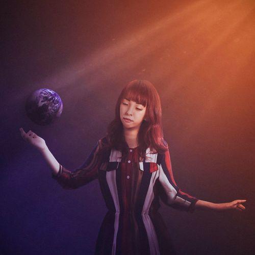 愛惜我們的星球 Portrait Fine Art Photography Woman Girl Earth Surrealism Keelung Taiwan BoShiuan Shiuanphoto Photoshop Orange Color Purple