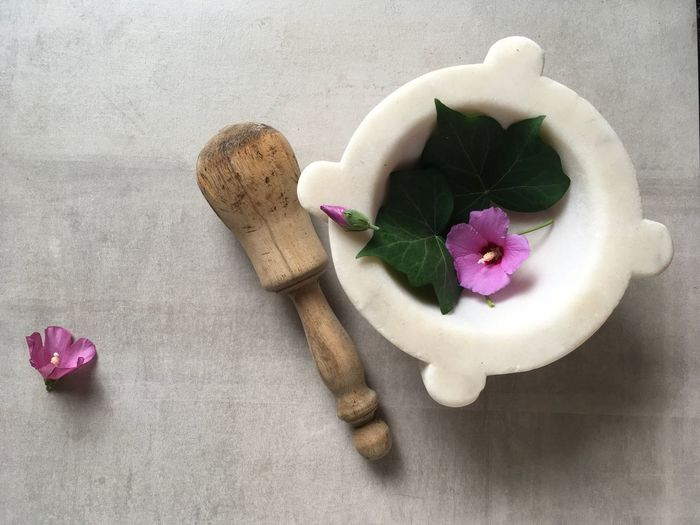 Life in marble Ancient Craft Mortar Mortar And Pestle Copy Space Marble Ancient Cooking Place Mortarboard Ancient Flatlay Flatlayphotography Wood Tools Hibiscus Flowering Plant Flower Freshness Plant High Angle View Nature Petal Beauty In Nature Pink Color No People Indoors  Still Life Close-up Vulnerability  Table Fragility