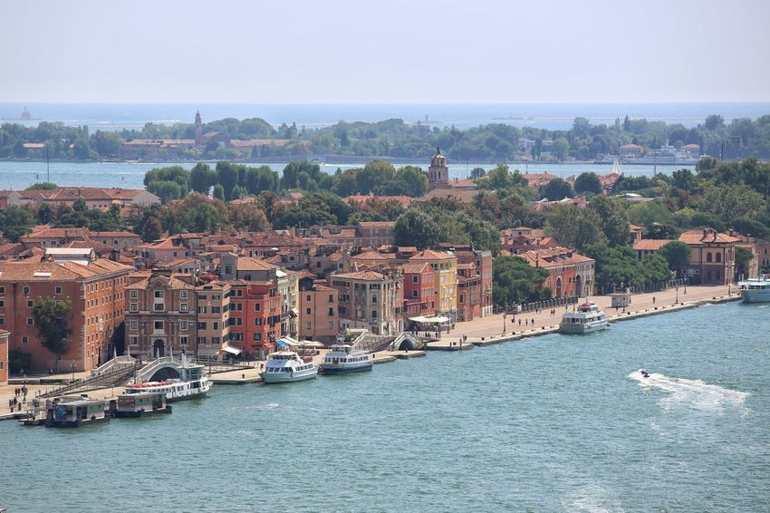 St Mark's Square St Mark's Tower St Mark's Square Venice St Mark's Tower Venice Canals Venice, Italy Architecture Beach Building Exterior Built Structure City Cityscape Day Harbor Nature Nautical Vessel No People Outdoors Sea Sky Travel Destinations Tree View Into Land Water Waterfront