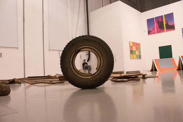 Art Day Gallery Indoors  Maat Real People Reflection Tire