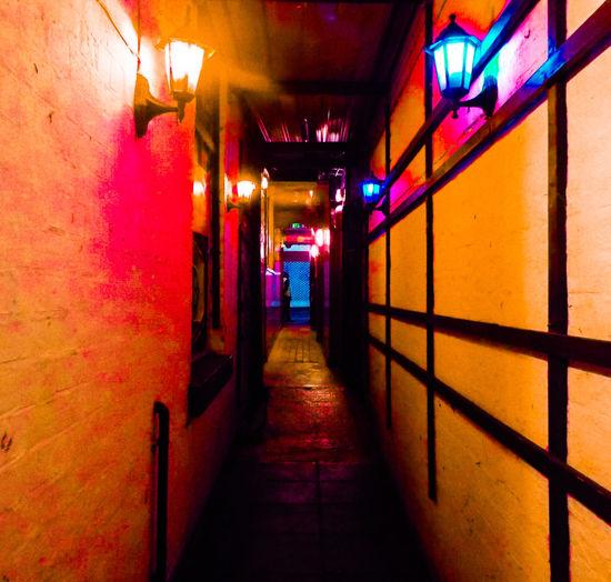 Hidden Northampton, the alleyway behind the door... Lamps Avenues & Alleyways Lights Vivid Bouncer The Way Forward Built Structure Architecture Illuminated
