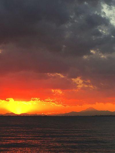 Sea Sunset Mt.Fuji Makuhari Chiba Japan IPhone 6s