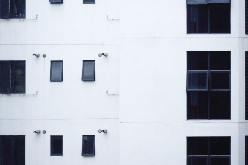 Windows. Architectural Detail Geometry Urban Geometry Geometric Shapes The View From My Window It's Cold Outside Monochrome White Minimalism Simplicity Minimal