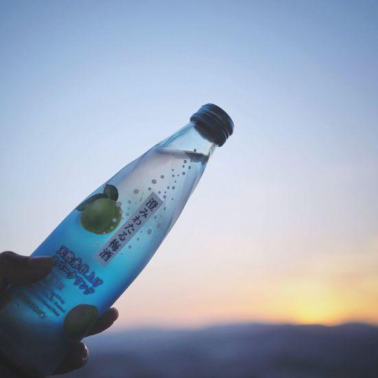 my wine bottle Wine Plum Wine Water Blue Sky Clear Sky ワイン 梅酒 Yummy Outdoors Sunset Sunlight Backlight