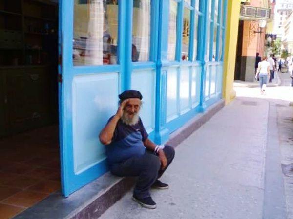 Walking In The Street Havana Cuba Man