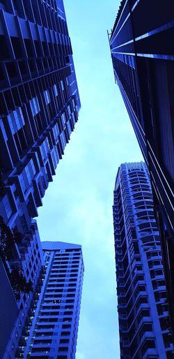 City Modern Skyscraper Urban Skyline Cityscape Business Blue Business Finance And Industry Downtown District Development