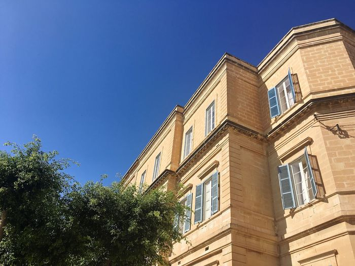Architecture Of Malta Maltese Architecture Maltese Malta Architecture City And Nature Architecture And Nature Architecture Of South Europe South European Architecture Built Structure Building Exterior Low Angle View Residential Structure Residential Building Building And Trees