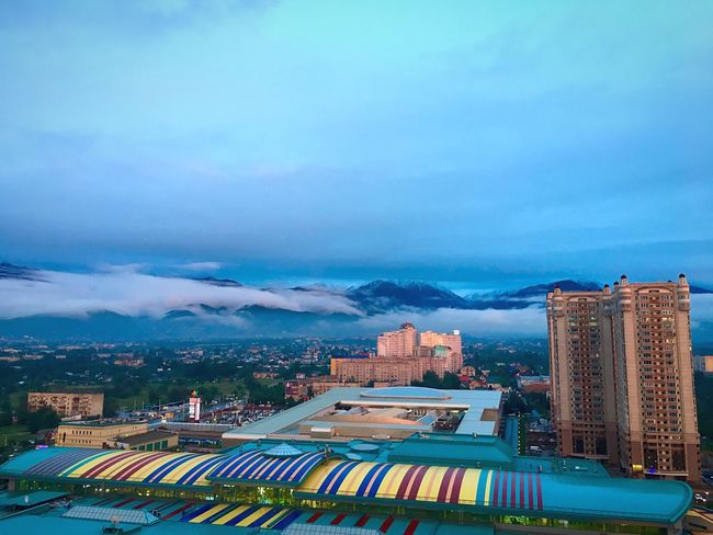 After the Rain in the Mountains Architecture Mega Almaty