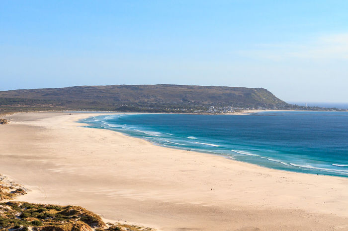 Cape Peninsula Beach Cape Peninsula Coastline Noordhoek South Africa Beach Beauty In Nature Blue Clear Sky Coastal Landscape Day Deserted Empty Horizon Over Water Nature No People Outdoors Sand Scenics Sea Sky Tranquil Scene Tranquility Water Wave