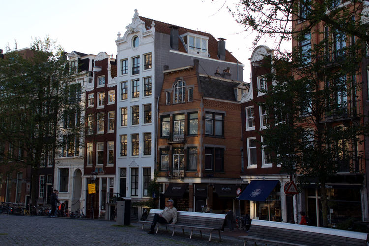Amsterdam Architecture Building Building Exterior City Incidental People Outdoors Street Townsquare