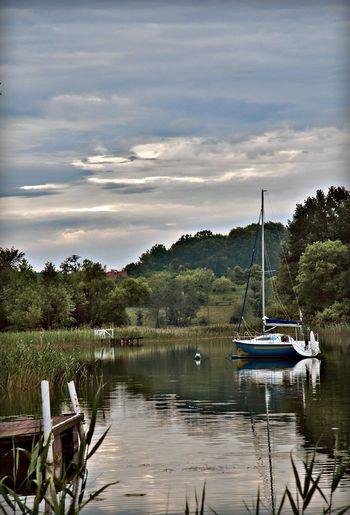 Mazury Water Transportation Lake Poland Nature Polska