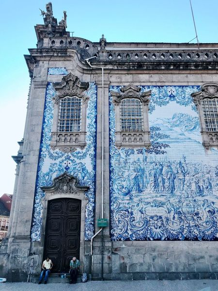 Oporto Oporto, Portugal Church Azulejos Porto Portugal Azulejosportugueses Azulejos Architecture Built Structure Building Exterior Sky Day Building No People Travel Travel Destinations Blue Wall Clear Sky Outdoors Communication Entrance History Text Nature Low Angle View City