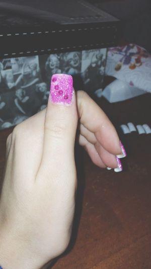 Make My Nails  Not Bad Pink Glitter