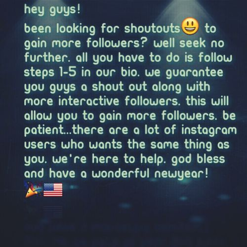 Want a s/o ? follow steps, and get more interactive followers! No BOTS! ! 2013 ShoutOuts WorldlyShoutOuts Blogs